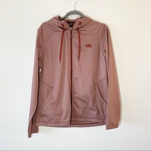The North Face Heather Mauve Pink Zip Hoodie XL